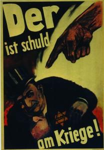 Affiche de propagande placardée en Allemagne en 1943