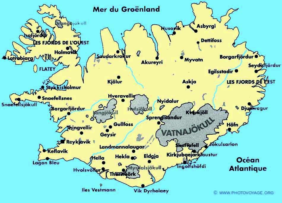 Hekla Islande Localisation Carte