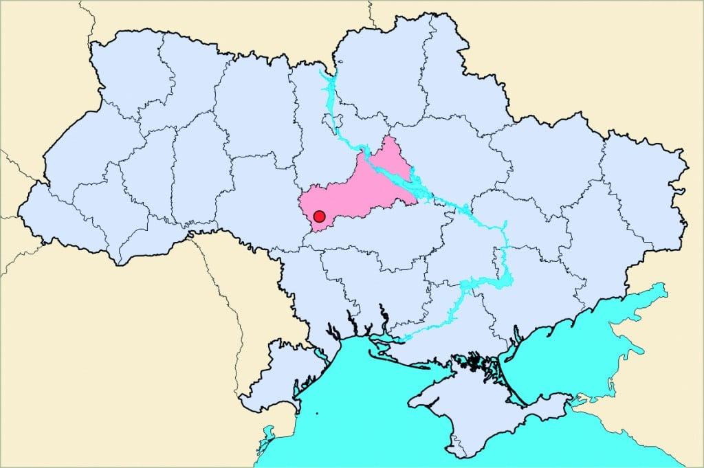 Uman-Ukraine-Map